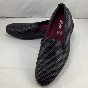 NWOT Capa De Ozono Woven Porcino Leather Loafers